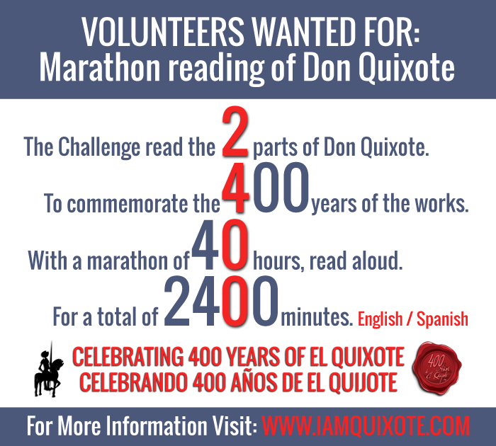 Marathon reading of Don Quijote