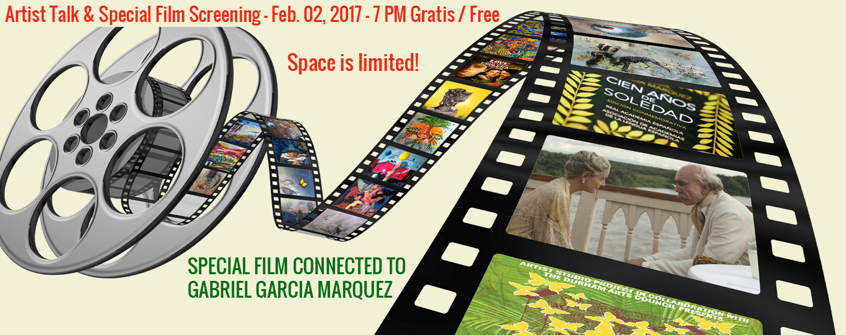 Artist Talk and Film Screening Gabriel Garcia Marquez