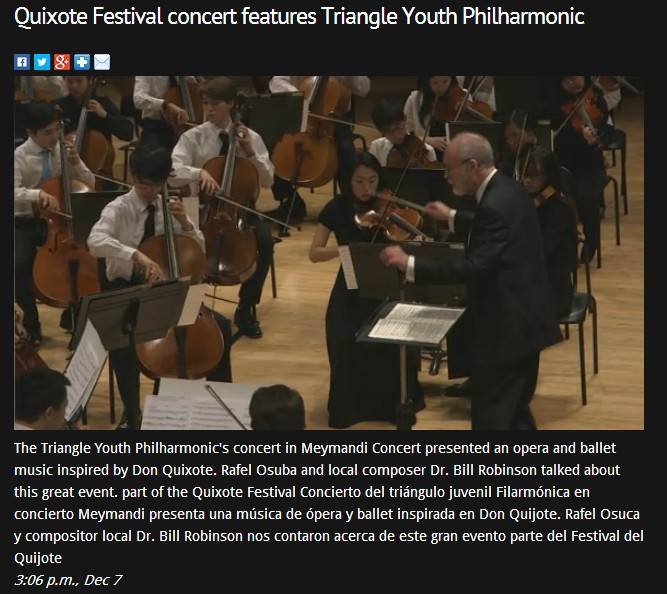 Quixote Festival concert features Triangle Youth Philharmonic