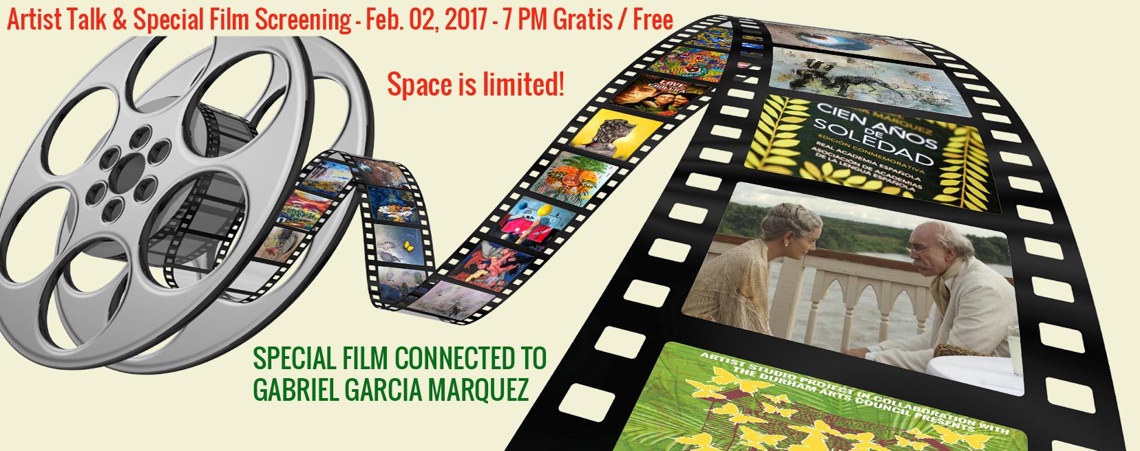 Artist Talk and Film Screening Gabriel Garcia Marquez